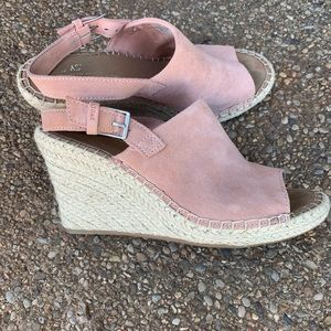 Suede Tom's wedges